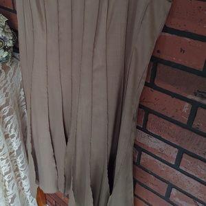 Calvin Klein Dresses - Calvin Klein Taupe Pleated Short Sleeve Dress